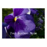 Pensamiento púrpura tarjetas de negocios