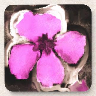 Pensamiento rosado y púrpura posavasos de bebida