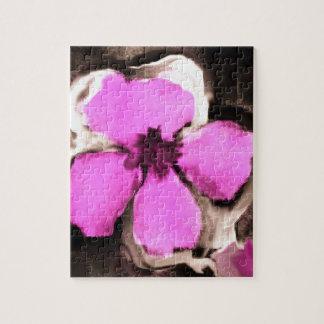 Pensamiento rosado y púrpura puzzle con fotos