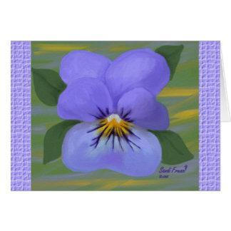 Pensamiento violeta en usted tarjeta (ampliación