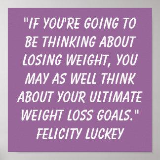 Pensamientos 7 de la pérdida de peso posters