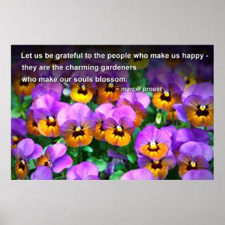 Pensamientos alegres de los jardineros de la cita poster