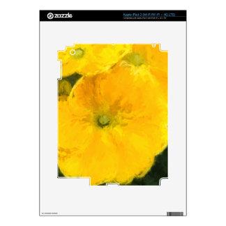 Pensamientos amarillos iPad 3 pegatina skin