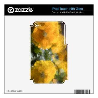 Pensamientos amarillos iPod touch 4G skin