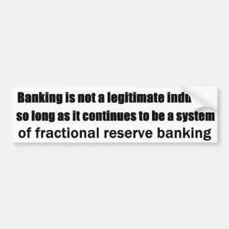 Pensamientos austríacos en actividades bancarias pegatina para auto
