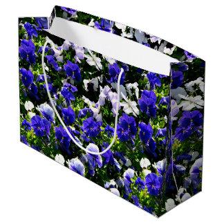 Pensamientos azules bolsa de regalo grande