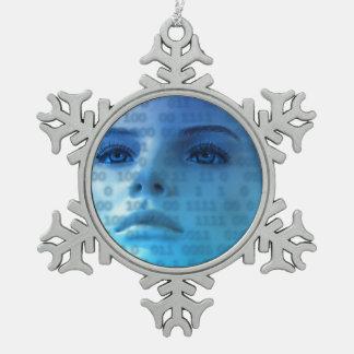 Pensamientos binarios en azul adornos