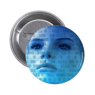 Pensamientos binarios en azul pins