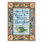 Pensamientos calientes y felices - tarjeta de feli