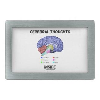 Pensamientos cerebrales dentro del humor anatómico hebilla cinturón rectangular