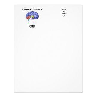 Pensamientos cerebrales dentro del humor anatómico membretes personalizados
