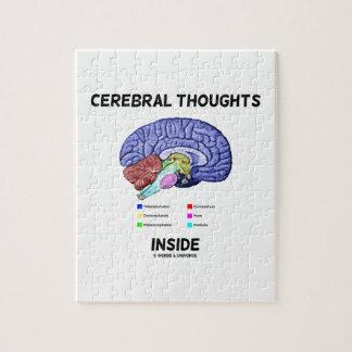 Pensamientos cerebrales dentro del humor anatómico puzzles