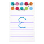 """Pensamientos creativos """"E """" Papelería De Diseño"""