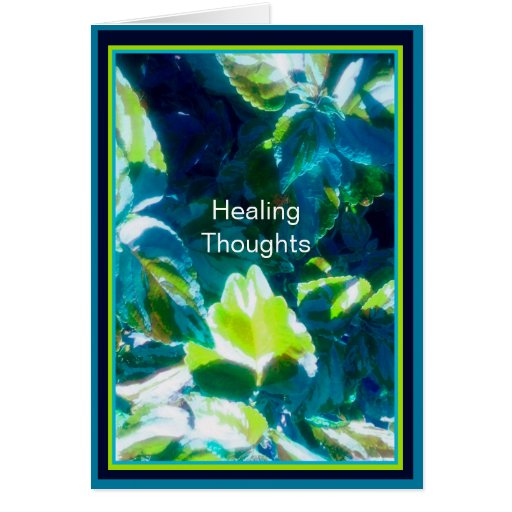 Pensamientos curativos tarjeta de felicitación