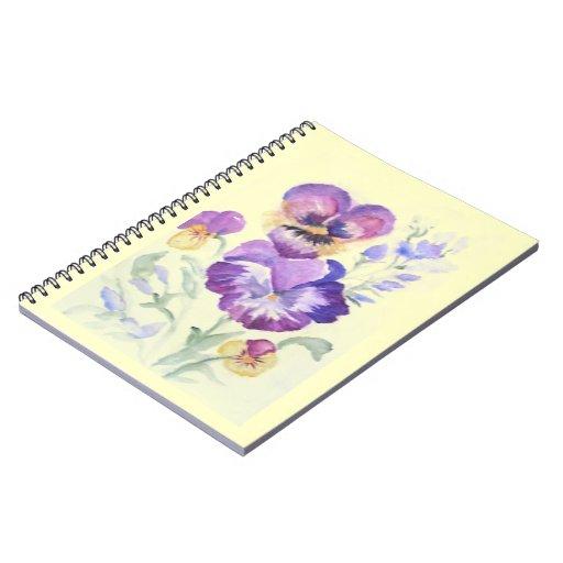 Pensamientos de la acuarela cuaderno