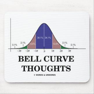 Pensamientos de la curva de Bell actitud de las e Alfombrillas De Ratones