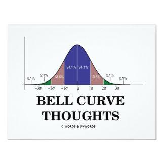 """Pensamientos de la curva de Bell (actitud de las Invitación 4.25"""" X 5.5"""""""