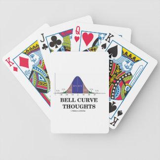 Pensamientos de la curva de Bell (curva de distrib Baraja Cartas De Poker