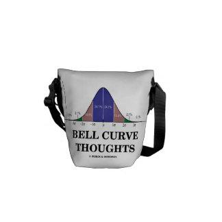 Pensamientos de la curva de Bell (curva de distrib Bolsas De Mensajería