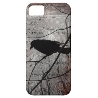 Pensamientos de pensamiento del cuervo iPhone 5 carcasa