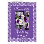 Pensamientos del cumpleaños de la madre tarjeta de felicitación