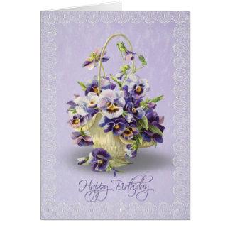 Pensamientos del cumpleaños tarjeta de felicitación