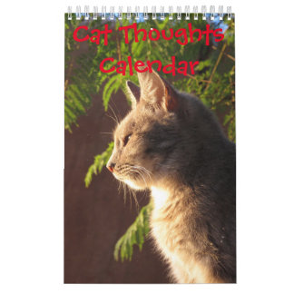 Pensamientos del gato calendario de pared
