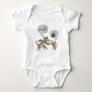 Pensamientos del mal de Tom y Jerry Body Para Bebé