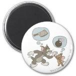 Pensamientos del mal de Tom y Jerry Imán Redondo 5 Cm