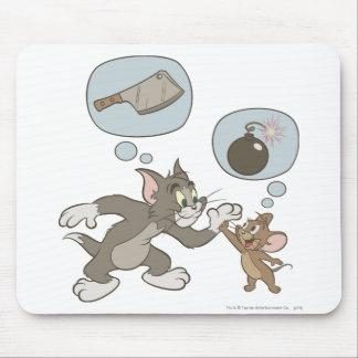 Pensamientos del mal de Tom y Jerry Mousepad