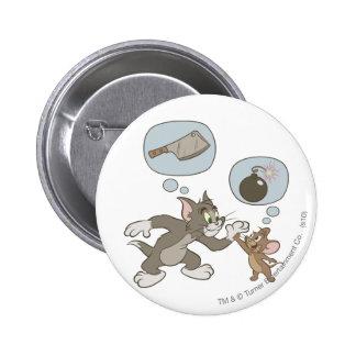 Pensamientos del mal de Tom y Jerry Pin Redondo 5 Cm