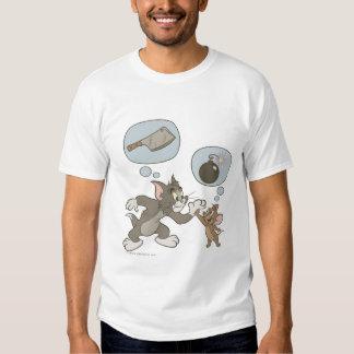 Pensamientos del mal de Tom y Jerry Playeras