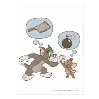 Pensamientos del mal de Tom y Jerry Postales