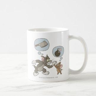 Pensamientos del mal de Tom y Jerry Taza De Café