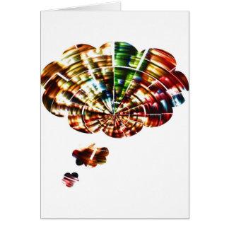 Pensamientos divinos - arte cósmico de la chispa r tarjeta de felicitación