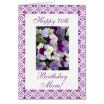 Pensamientos - el 70.o cumpleaños de la madre tarjeta de felicitación