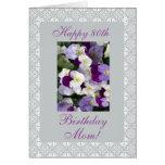 Pensamientos - el 80.o cumpleaños de la madre tarjeta de felicitación