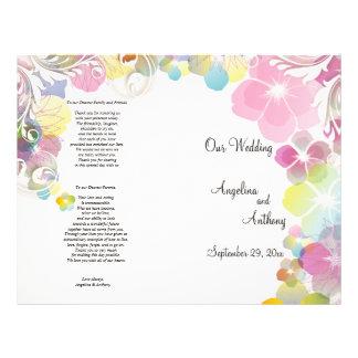 """Pensamientos elegantes del rosa y del multicolor c folleto 8.5"""" x 11"""""""