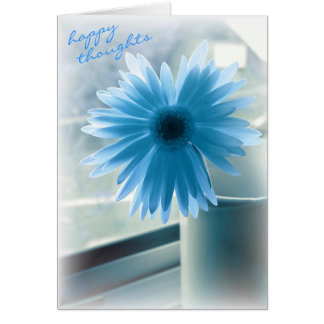 Pensamientos felices para su cumpleaños tarjeta pequeña