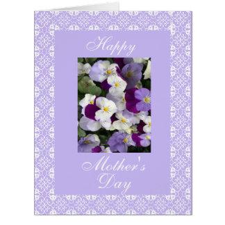 Pensamientos LG del día de madre Tarjeta De Felicitación Grande
