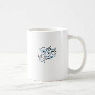 Pensamientos (línea azul y blanca del intercambio  tazas de café