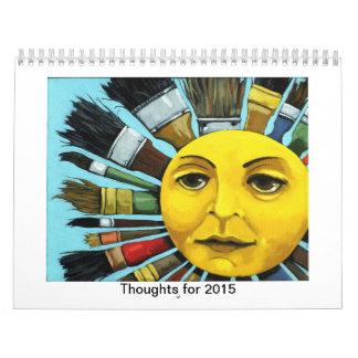 Pensamientos para 2015 calendario