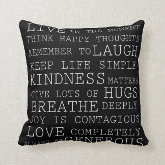 Pensamientos positivos almohadas