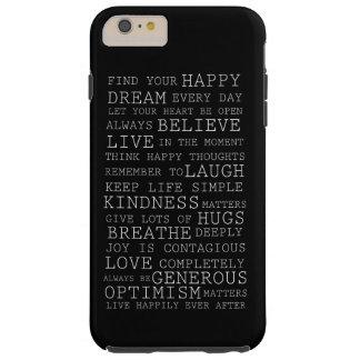 Pensamientos positivos funda de iPhone 6 plus tough
