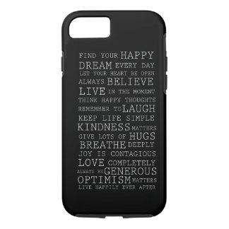 Pensamientos positivos funda iPhone 7