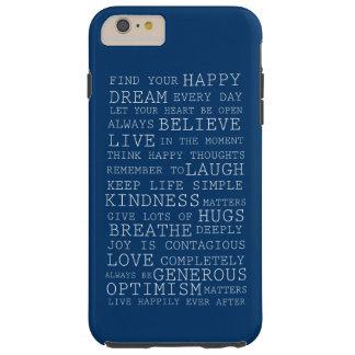 Pensamientos positivos funda para iPhone 6 plus tough