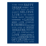 Pensamientos positivos postales