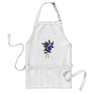 Pensamientos púrpuras: Coloree el arte floral del  Delantal