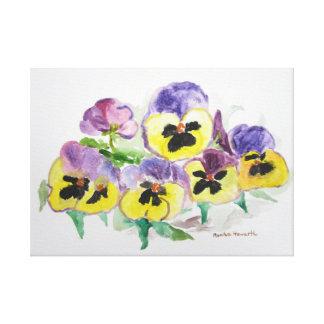 Pensamientos púrpuras impresiones en lienzo estiradas