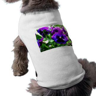 Pensamientos púrpuras playera sin mangas para perro